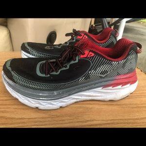 Hoka One One Bondi 5 Black/Gray Sneakers Size 11.5